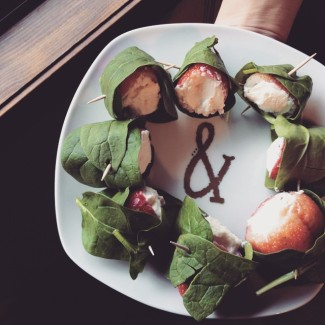 Spinach Wrapped Strawberries